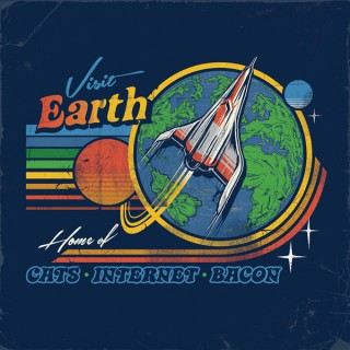 // On a galactic scale, how would we market the Earth for tacky tourist t-shirts?
