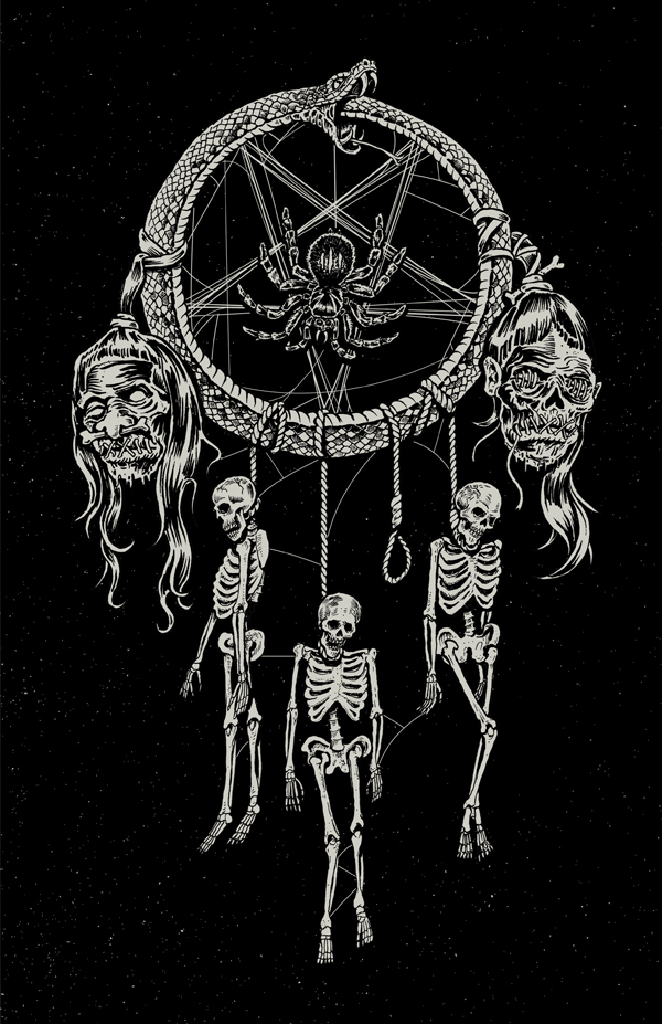 // A new take on the old dream catcher. This one traps the good dreams allowing only nightmares to get through