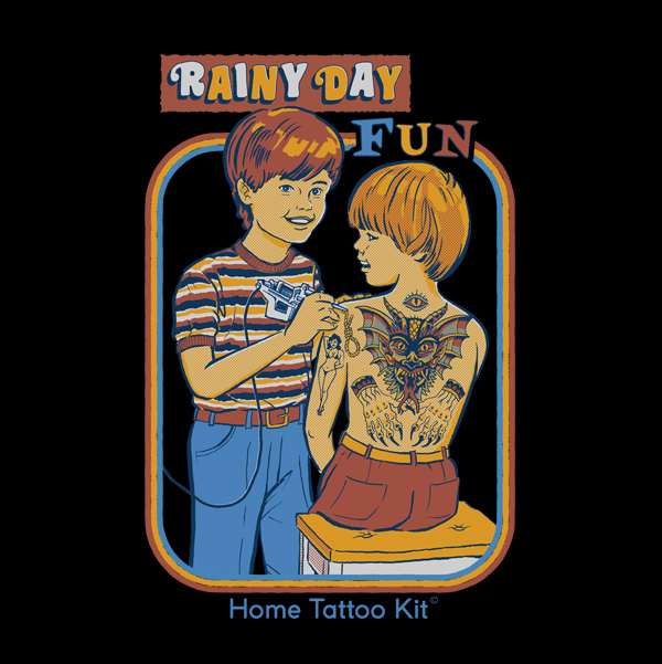 // Turn your friends into permanent works of art with this Lil' Home Tattoo Kit